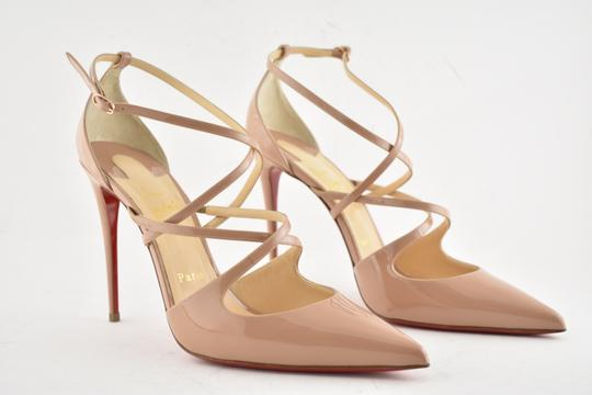 Christian Louboutin Pigalle Stiletto Classic Ankle Strap Crossfliketa nude Pumps Image 3