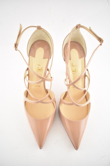 Christian Louboutin Pigalle Stiletto Classic Ankle Strap Crossfliketa nude Pumps Image 6