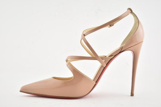 Christian Louboutin Pigalle Stiletto Classic Ankle Strap Crossfliketa nude Pumps Image 7
