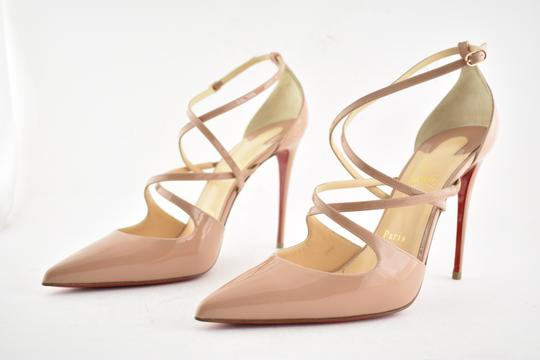 Christian Louboutin Pigalle Stiletto Classic Ankle Strap Crossfliketa nude Pumps Image 8