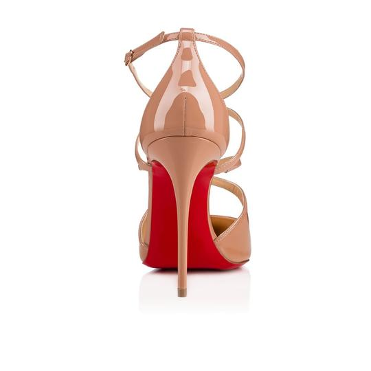 Christian Louboutin Pigalle Stiletto Classic Ankle Strap Crossfliketa nude Pumps Image 9