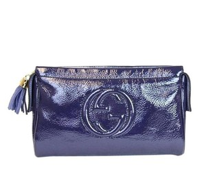 Gucci Soho Cosmetic 338191 Navy Clutch