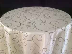 Champagne 15 Embroidered Tablecloth