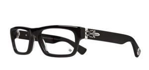 Chrome Hearts New CHROME HEARTS Eyeglasses INFLATABLE DATE BK Black Frame w/ Silver