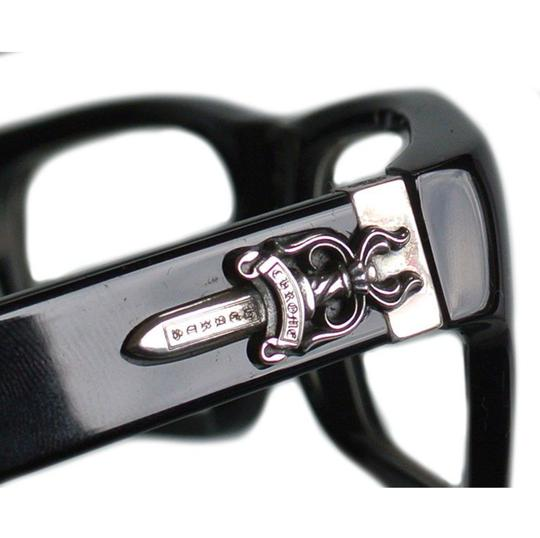 Chrome Hearts New CHROME HEARTS Eyeglasses INFLATABLE DATE BK Black Frame w/ Silver Image 10