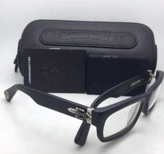 Chrome Hearts New CHROME HEARTS Eyeglasses INFLATABLE DATE BK Black Frame w/ Silver Image 8