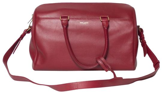 Saint Laurent Two-way Duffle Tote in Red Image 0