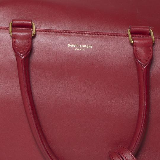 Saint Laurent Two-way Duffle Tote in Red Image 1