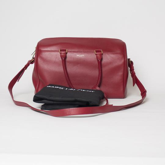 Saint Laurent Two-way Duffle Tote in Red Image 11