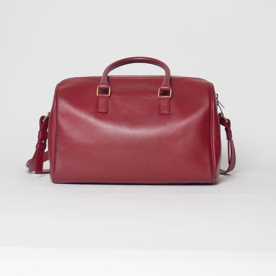 Saint Laurent Two-way Duffle Tote in Red Image 2