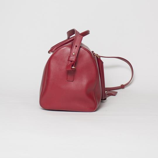 Saint Laurent Two-way Duffle Tote in Red Image 5