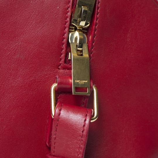 Saint Laurent Two-way Duffle Tote in Red Image 6