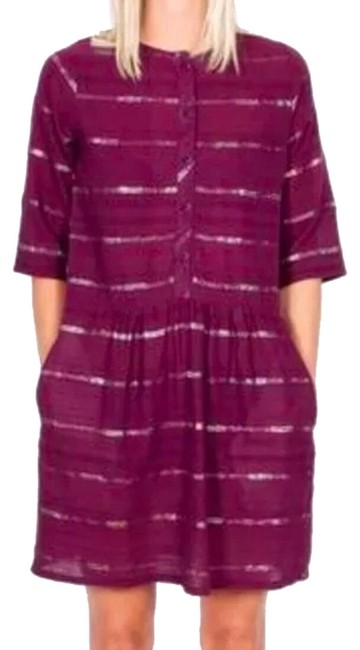 Preload https://img-static.tradesy.com/item/24858970/ace-and-jig-maroon-mid-length-short-casual-dress-size-10-m-0-1-650-650.jpg