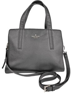 Kate Spade Grey St Dominique Leather Wkru3169 Satchel in Black