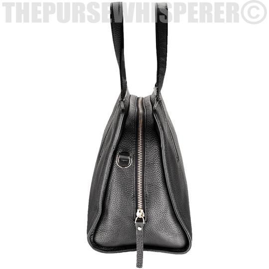 Kate Spade Grey St Dominique Leather Wkru3169 Satchel in Black Image 2