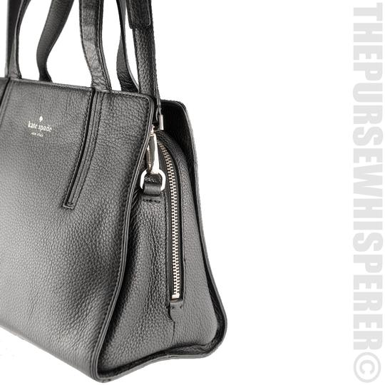 Kate Spade Grey St Dominique Leather Wkru3169 Satchel in Black Image 6