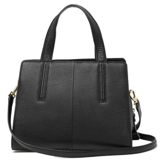 Kate Spade Grey St Dominique Leather Wkru3169 Satchel in Black Image 8