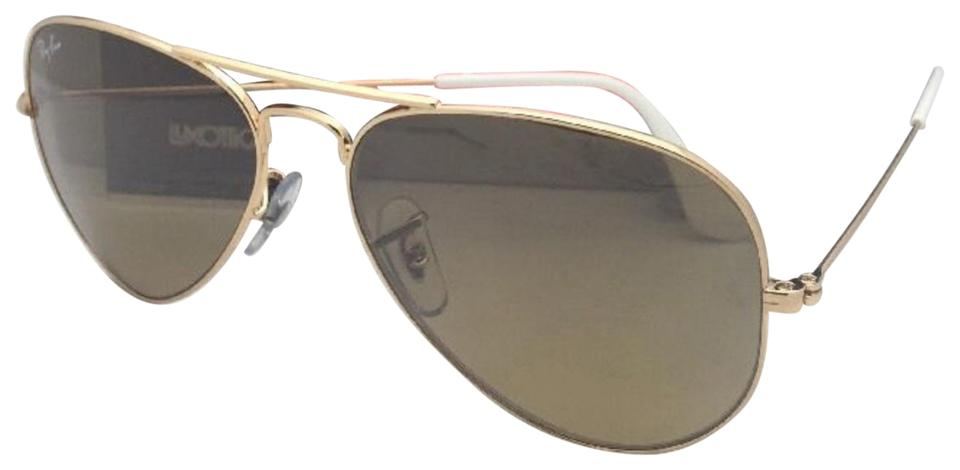 7c6cf81647f9 Ray-Ban New Rb 3025 001 3k 62-14 140 Gold Aviator W  Brown+silver ...