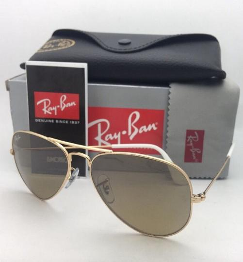 Ray-Ban RAY-BAN Sunglasses RB 3025 001/3K 62-14 Gold Aviator w/ Brown+Mirror Image 11