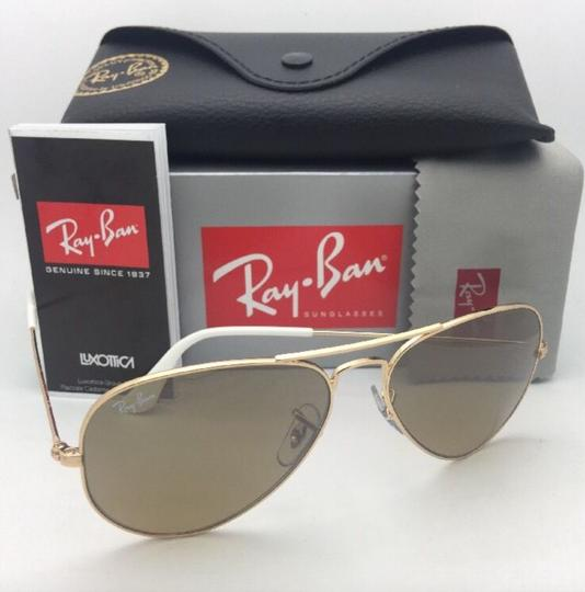 Ray-Ban RAY-BAN Sunglasses RB 3025 001/3K 62-14 Gold Aviator w/ Brown+Mirror Image 2