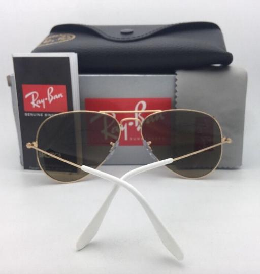 Ray-Ban RAY-BAN Sunglasses RB 3025 001/3K 62-14 Gold Aviator w/ Brown+Mirror Image 3