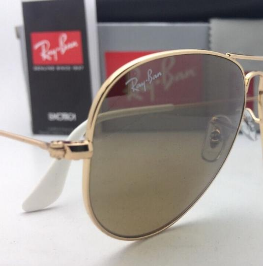 Ray-Ban RAY-BAN Sunglasses RB 3025 001/3K 62-14 Gold Aviator w/ Brown+Mirror Image 5