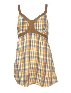 South Pole Collection Plaid Sleeveless Tunic