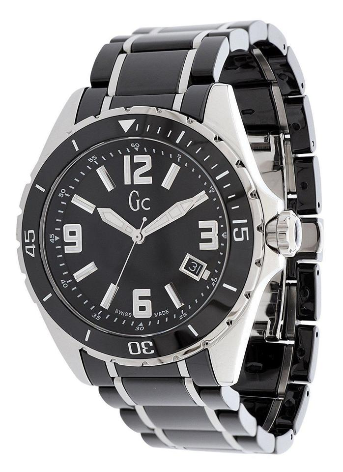 8ece0e51b Guess NEW GUESS COLLECTION GC SWISS BLACK CERAMIC MENS WATCH X85008G2S  Image 0 ...