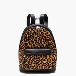 J.Crew J.Crew Harper backpack in Italian Leather and Calf Hair. Adjustable strap.