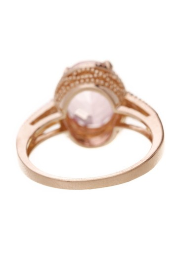 Fine Jewelry Vault Fine Jewelry Synthetic Pink Sapphire & Diamond Estate Ring - Gold Image 1