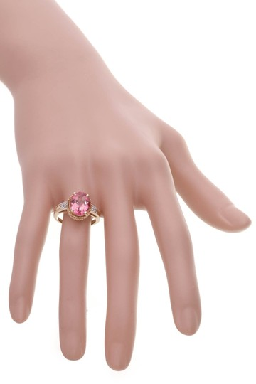 Fine Jewelry Vault Fine Jewelry Synthetic Pink Sapphire & Diamond Estate Ring - Gold Image 5