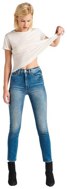 Item - Indigo Medium Wash Zoeey High Rise Straight Crop Doheny Capri/Cropped Jeans Size 25 (2, XS)