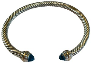 David Yurman David yurman size large 5mm blue topaz classic cable