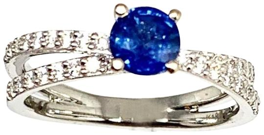 Preload https://img-static.tradesy.com/item/24859485/blue-certified-2450-sapphire-and-diamond-538mm-sizable-18kt-white-gold-22593-ring-0-11-540-540.jpg
