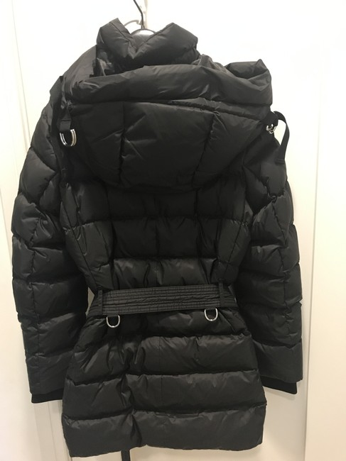 Burberry London Black Limehouse Hooded Mid-length Puffer Jacket Coat Size 12 (L) Burberry London Black Limehouse Hooded Mid-length Puffer Jacket Coat Size 12 (L) Image 2