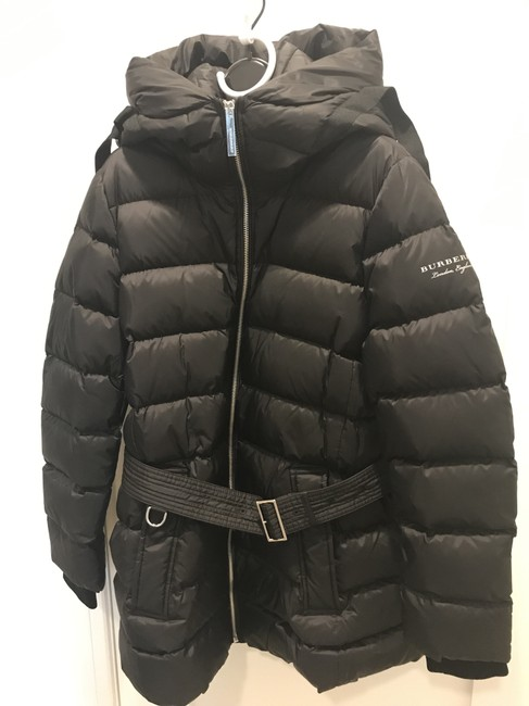 Burberry London Black Limehouse Hooded Mid-length Puffer Jacket Coat Size 12 (L) Burberry London Black Limehouse Hooded Mid-length Puffer Jacket Coat Size 12 (L) Image 3