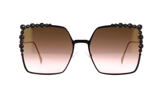 Fendi Fendi FF0259 2O5 Run Away Black Metal Square Sunglasses Image 4