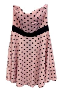 Charlotte Russe Polka Dot 50's Mini Retro Stretchy Dress