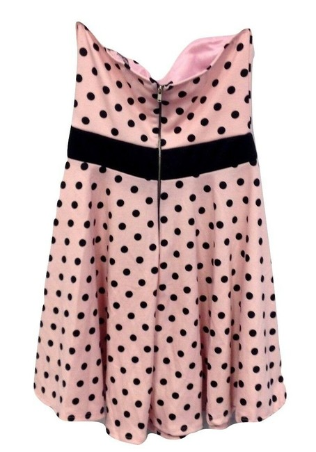 Charlotte Russe Polka Dot 50's Mini Retro Stretchy Dress Image 1