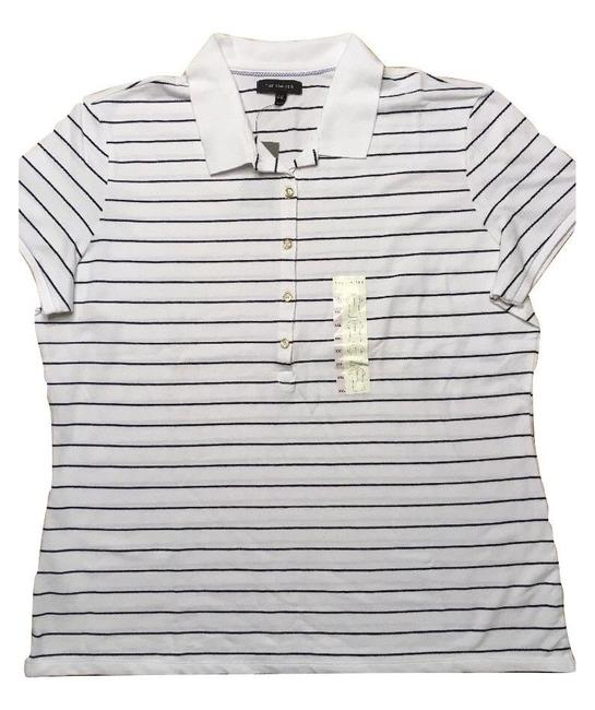 The Limited Short Sleeve Top White Striped Image 1