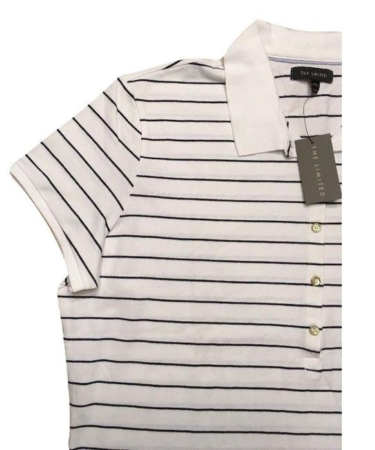The Limited Short Sleeve Top White Striped Image 2