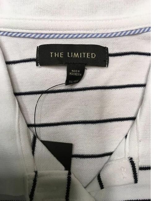 The Limited Short Sleeve Top White Striped Image 3