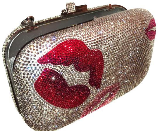 Preload https://img-static.tradesy.com/item/24859613/judith-leiber-pucker-up-minaudiere-from-couture-silver-red-and-pink-austrian-crystals-clutch-0-1-540-540.jpg