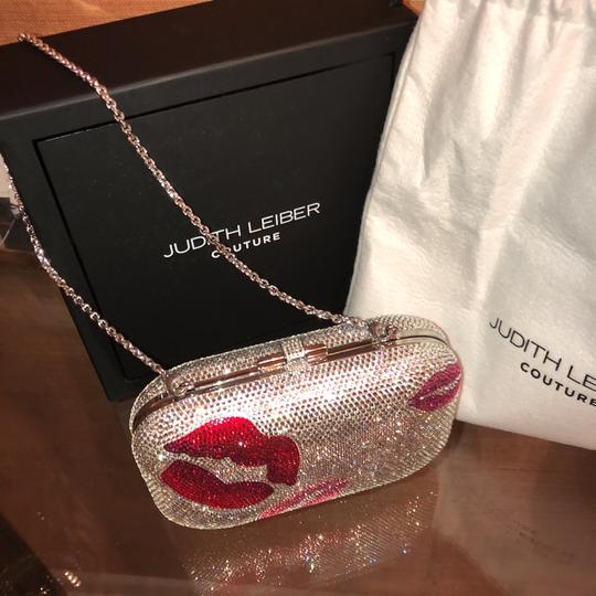 Judith Leiber Silver Red And Pink Austrian Crystals Clutch Image 10
