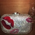 Judith Leiber Silver Red And Pink Austrian Crystals Clutch Image 4