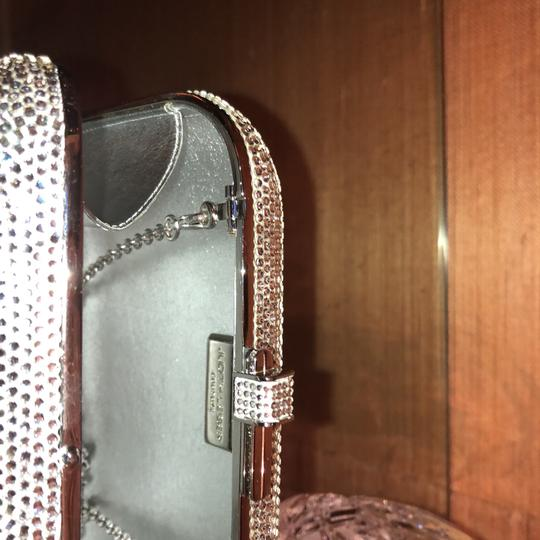 Judith Leiber Silver Red And Pink Austrian Crystals Clutch Image 5