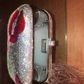 Judith Leiber Silver Red And Pink Austrian Crystals Clutch Image 6