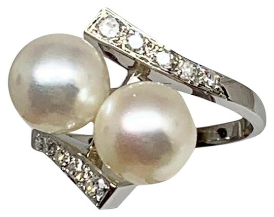 Estate Certified 1290 Magnificent Diamond & Akoya Pearl 8.25Mm 14Kt 10801 Image 3