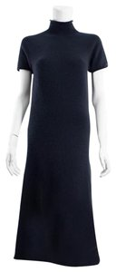 Navy Blue Maxi Dress by Chanel Cashmere One Piece Elegant