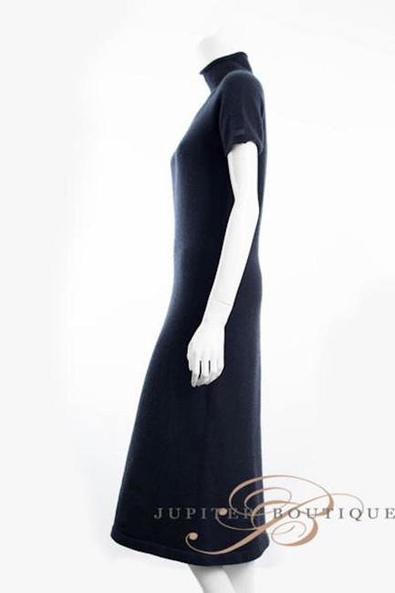 Navy Blue Maxi Dress by Chanel Cashmere One Piece Elegant Image 1
